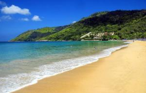 There will be a short break in programming whilst we all imagine being on this beach ...