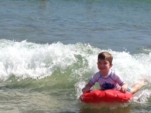 This was taken at our beach holiday whilst I was in the middle of chemo. It made me so happy to see you so full of joy.